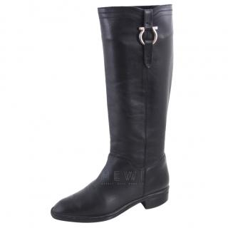 Salvatore Ferragamo mid calf riding boots