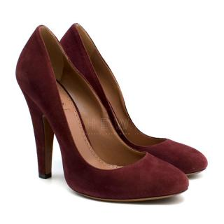 Alaia Cherry Red Suede Pumps