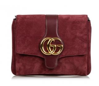 Gucci Burgundy Arli Suede Crossbody bag