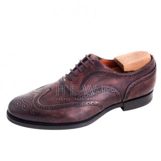 Santoni Men's Brown Leather Brogues
