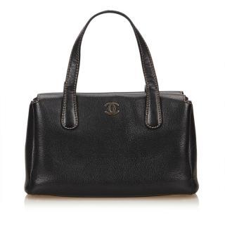 Chanel Black Caviar Leather Shoulder Bag