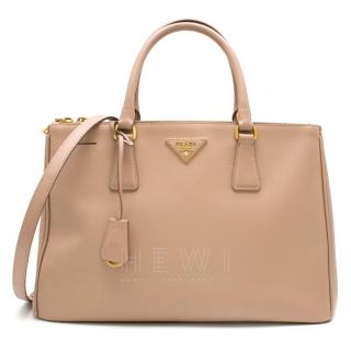 Prada Nude Galleria Large Saffiano Leather Bag