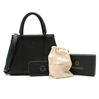 Gianoi Nadia Medium Textured leather tote