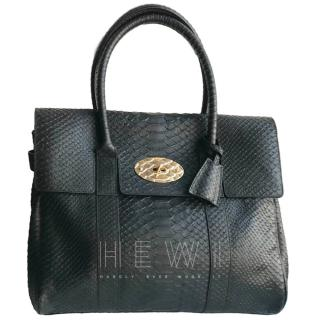 Mulberry Black Python Bayswater Tote