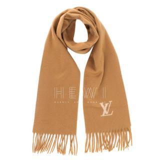 Louis Vuitton Cashmere Camel Scarf