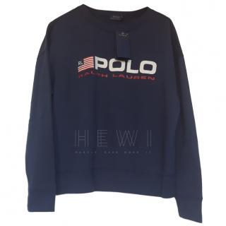 Polo Ralph Lauren Logo Slogan Sweatshirt