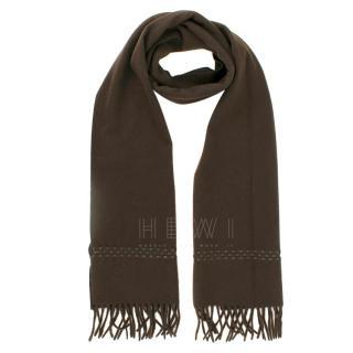 Dunhill Dark Brown Cashmere Scarf