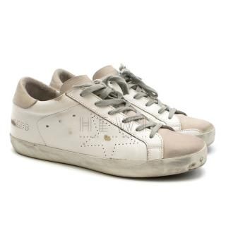 Golden Goose Superstar Distressed White Sneakers