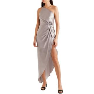 Michelle Mason satin twist knot gown
