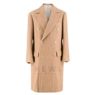 Ring Jacket wool double breasted beige coat