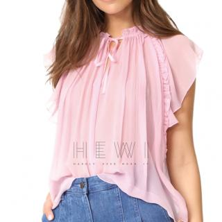 Ulla Johnson Pink Sigrid Top