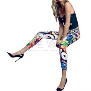 Moschino Graffiti Print Jeans