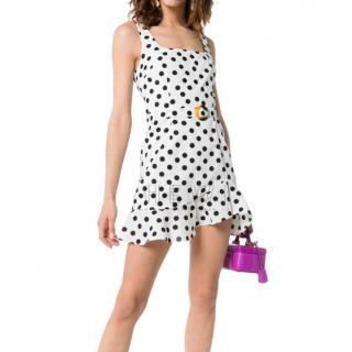 De La Vali Christabel Polka Dot Mini Dress