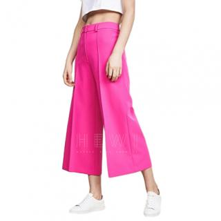 Milly Cropped Hayden Pant in Raspberry