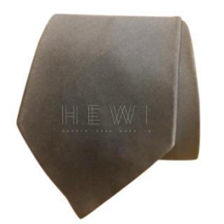 Armani Collezioni silver silk tie