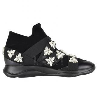 Christopher Kane high-top crystal embellished sneakers