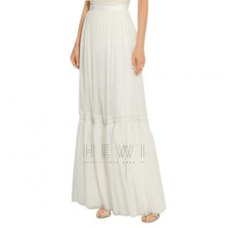 Needle & Thread Ivory Tulle Maxi Skirt