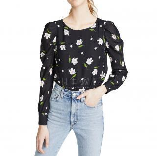 Milly Black Floral Hayley Top