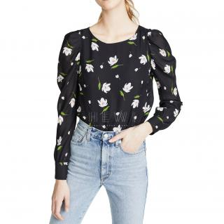 Milly Black Floral Hayley Top