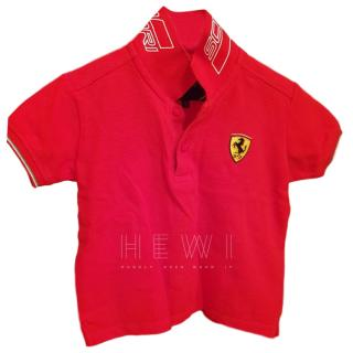 Ferrari Boy's Red Polo Top