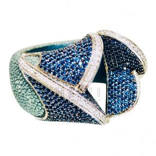 Bespoke Crystal Embellished Cuff