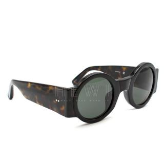 Dries Van Noten Tortoiseshell Round Sunglasses