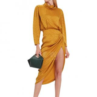 Ronny Kobo kaira Leopard print orange dress