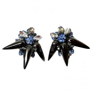 Vicki Sarge Spike Crystal Earrings