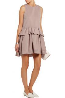 Victoria Victoria Beckham Cloqu� peplum mini dress