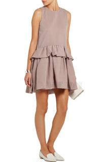 Victoria Victoria Beckham Cloqu� peplum mini dress