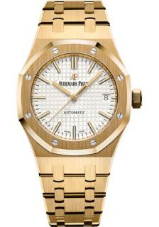 Audemars Piguet 37mm Octagonal Royal Oak 18K Yellow Gold Watch