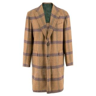Sartoria Solito High-quality Tailored Checked Coat