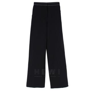 LR(Gemma A)Self Portrait wide leg stitched trousers