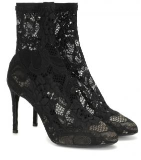 Dolce & Gabbana�Stretch-lace ankle boots