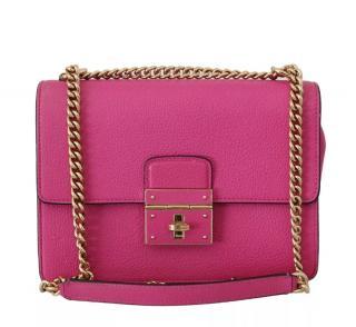 Dolce & Gabbana pink leather Lucia shoulder bag