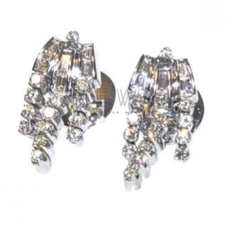 Bespoke 18ct Gold Diamond Art Deco Earrings