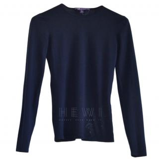 Ralph Lauren Collection navy merino wool jumper