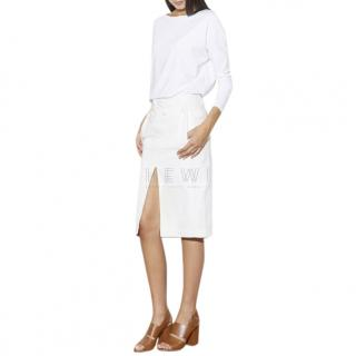 Acne Studios Ecru Drift Skirt
