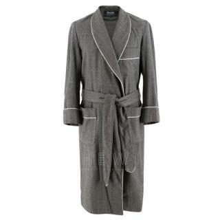 Budd luxury Grey Wool Wrap dressing gown
