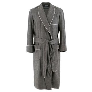 Budd luxury Grey Wool Wrap dressing gown