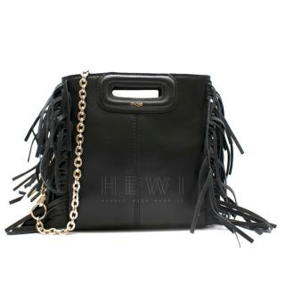 Maje mini leather m bag with chain