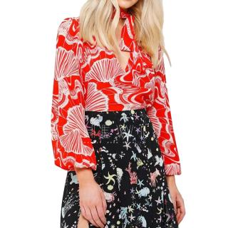 Rixo The Moss Shell-Print Blouse