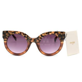 Maje Cat Eye Purple Tinted Sunglasses