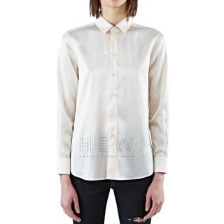 Saint Laurent Ecru Silk Shirt