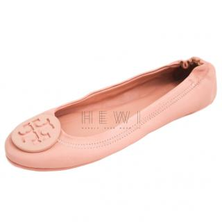 Tory Burch Powder Pink Ballet Flats