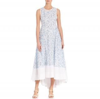 Tory Burch Blue Blaire Printed Cotton Dress
