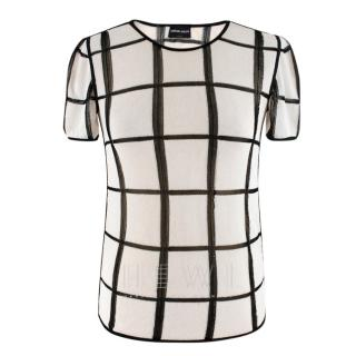 Giorgio Armani checked knit top