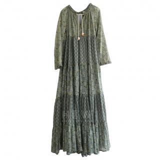 Yvonne S Green Printed Maxi Dress