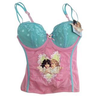 Fiorucci Pink & Blue Angel Corset