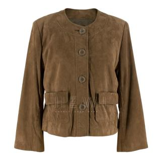 Carla Zampatti Brown Suede Jacket